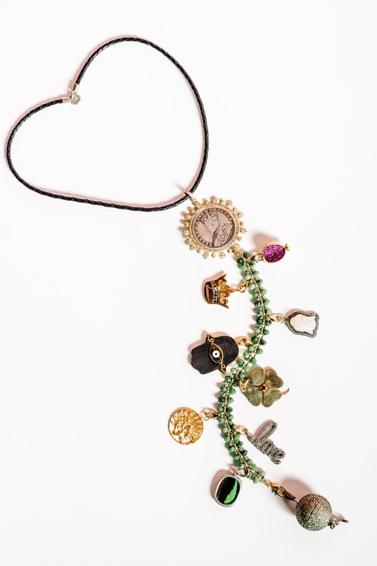 Clarissa Bronfman Signature Symbol Tree Necklace 3