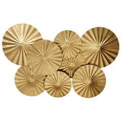 Clarissa Wall Sculpture in Gold Leaf by CuratedKravet