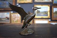 """""""Duck in Flight""""  Utah Wild Life Artist Bronze"""
