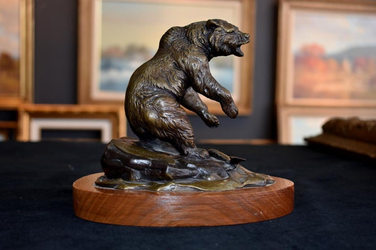"Clark Bronson Figurative Sculpture - ""Grizzly""  Grizzly Bear Utah Aritist"