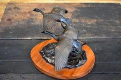 """""""Wild Wings""""  Utah Wild Life Artist Bronze Geese in Flight"""