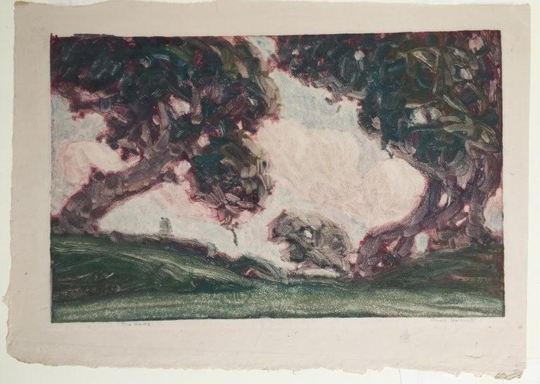 THE OAKS - Print by Clark Hobart