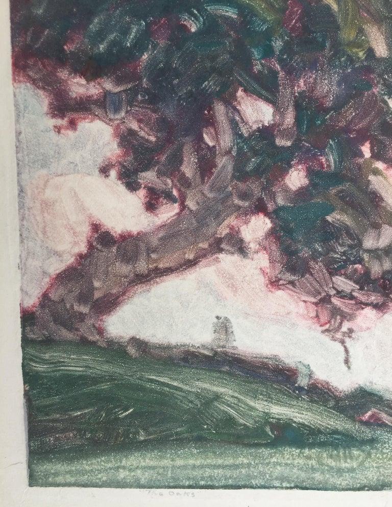 THE OAKS - American Impressionist Print by Clark Hobart