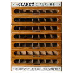 Clark's Anchor Cotton Haberdashery Advertising Drawers Cabinet
