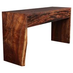 Claro Walnut and Ebony Console Table, in Stock