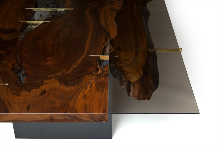Organic Modern Claro Walnut Corset Dining Table V For Sale