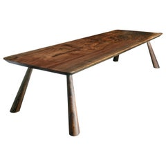 Claro Walnut Single Slab FIJN Dining Table, in Stock