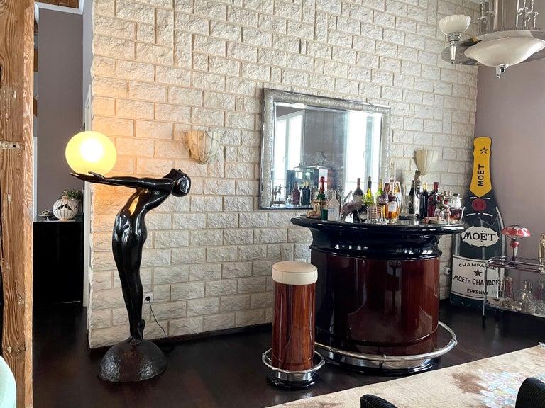 Clarté Very Big Sculpture in Art Deco Style Floor Lamp Original Max Le Verrier For Sale 8