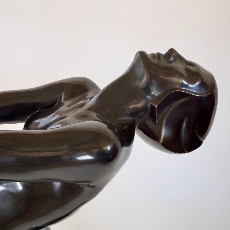 Clarté Very Big Sculpture in Art Deco Style Floor Lamp Original Max Le Verrier For Sale 1