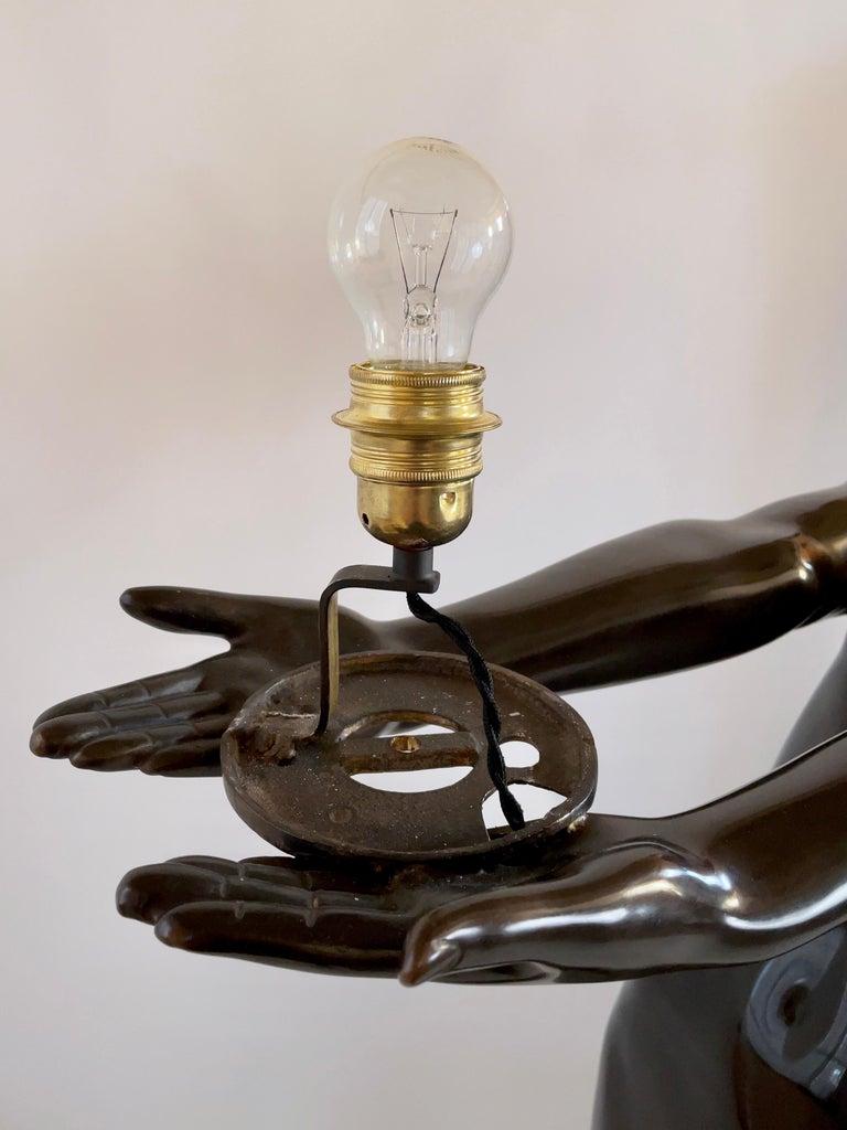 Clarté Very Big Sculpture in Art Deco Style Floor Lamp Original Max Le Verrier For Sale 3