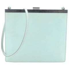 Clasp Crossbody Bag Leather Mini