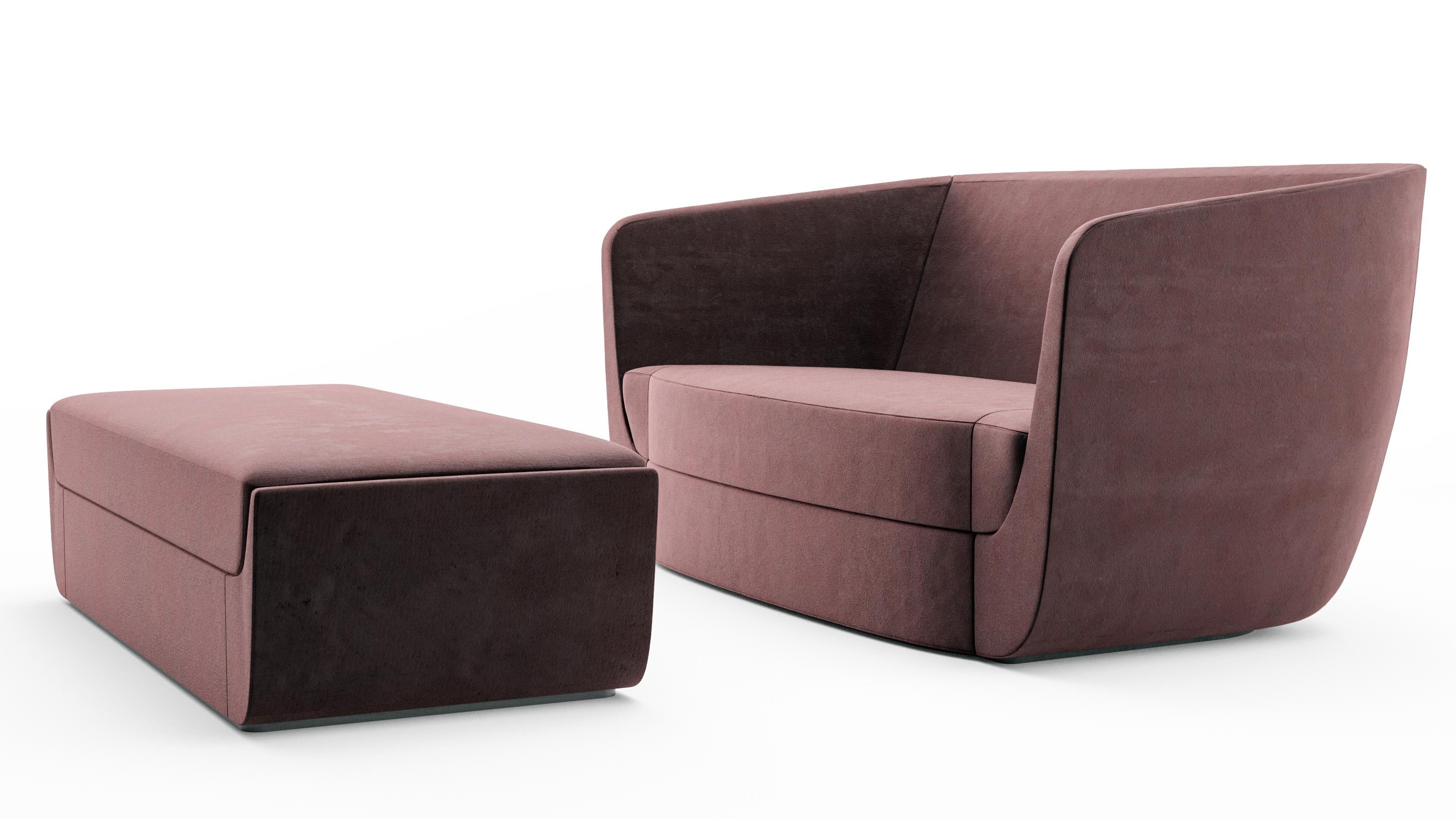 Edgy furniture High End The Clasp Collection Is Range Of Tight Upholstered Furniture That Is Edgy And Embracing 1stdibs Clasp Loveseat And Ottoman Contemporary Sofa Set Upholstered In