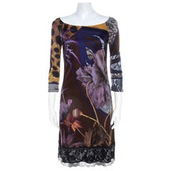 Class by Roberto Cavalli Multicolor Jersey Printed Midi Dress M