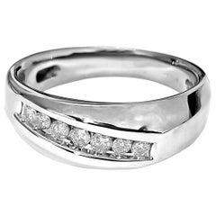 Classic 0.21 Carat Diamond Gold Men's Wedding Band