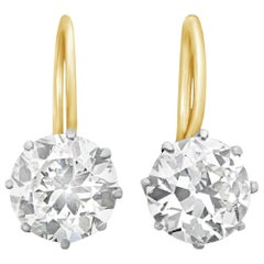 Classic 1.23 and 1.15 Carat Old European Diamond Earrings by Hancocks