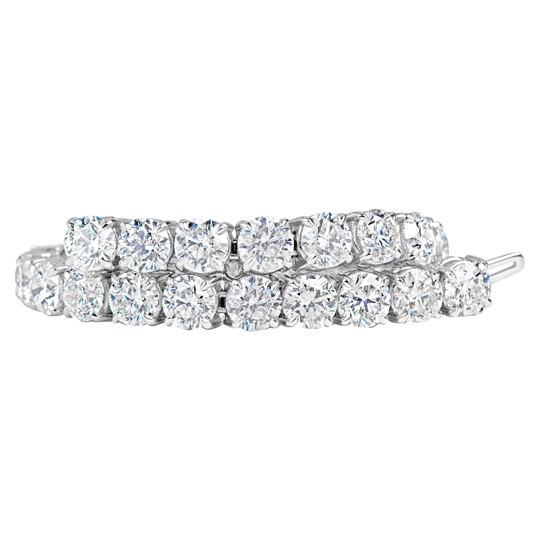 Classic 12.00 Carat Diamonds Tennis Bracelet