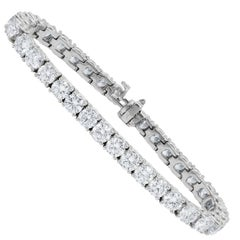 Classic 12.25 Carat Diamond Tennis Bracelet in White Gold
