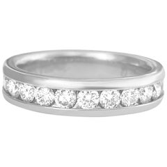 Classic 1.25 Carat Diamond Wedding Band Unisex
