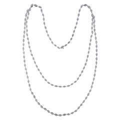 Classic 18 Karat White Gold and Diamond Necklace