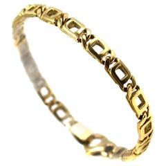Classic 18 Karat Yellow Gold Curb Link Bracelet