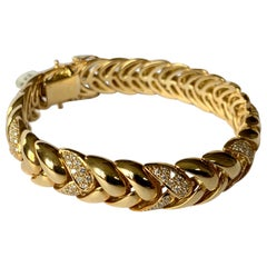 Classic 18 Karat Yellow Gold Diamond Bracelet by Gübelin, Switzerland