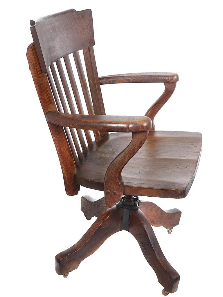 Incredible Classic 1890S Oak Desk Chair Evergreenethics Interior Chair Design Evergreenethicsorg