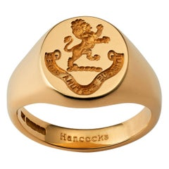 Classic 18 Carat Yellow Gold Oxford Oval Signet Ring by Hancocks