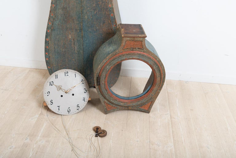 Classic 18th Century Swedish Rococo Long Case Clock For Sale 6