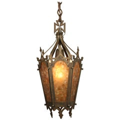 Classic 1920s Spanish Revival Mica Faceted Pendant