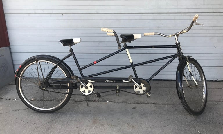 Mid-Century Modern Classic 1950s Tandem Bike, Bicycle Built for Two by J C Higgins For Sale
