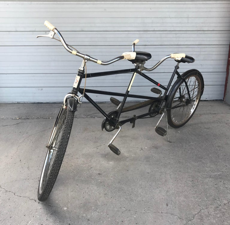 American Classic 1950s Tandem Bike, Bicycle Built for Two by J C Higgins For Sale