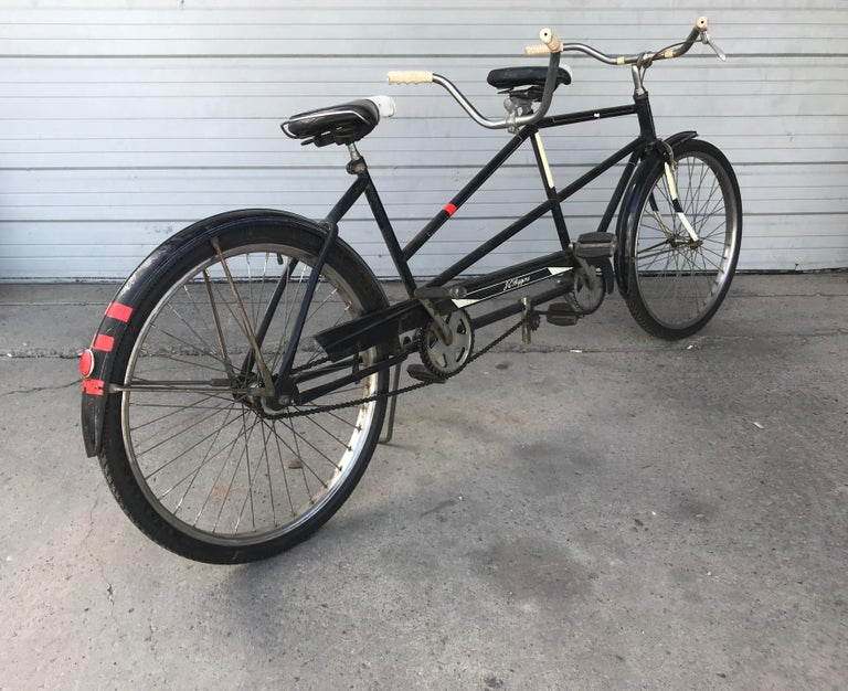 Mid-20th Century Classic 1950s Tandem Bike, Bicycle Built for Two by J C Higgins For Sale