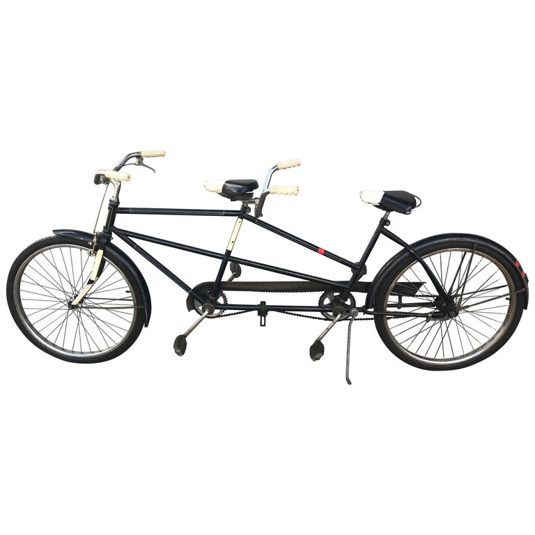 Classic 1950s Tandem Bike, Bicycle Built for Two by J C Higgins For Sale