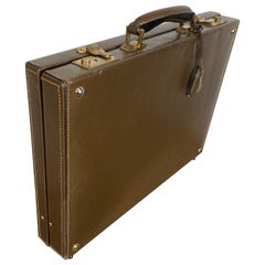 Classic 1970s Gucci Leather Brief Case, Made in Italy