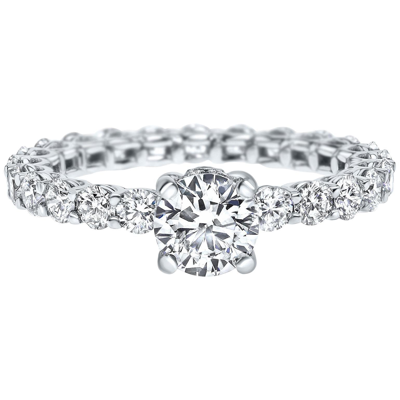 Classic 2.24 Carat Melanya Diamond Ring in 14 Karat White Gold - Shlomit Rogel