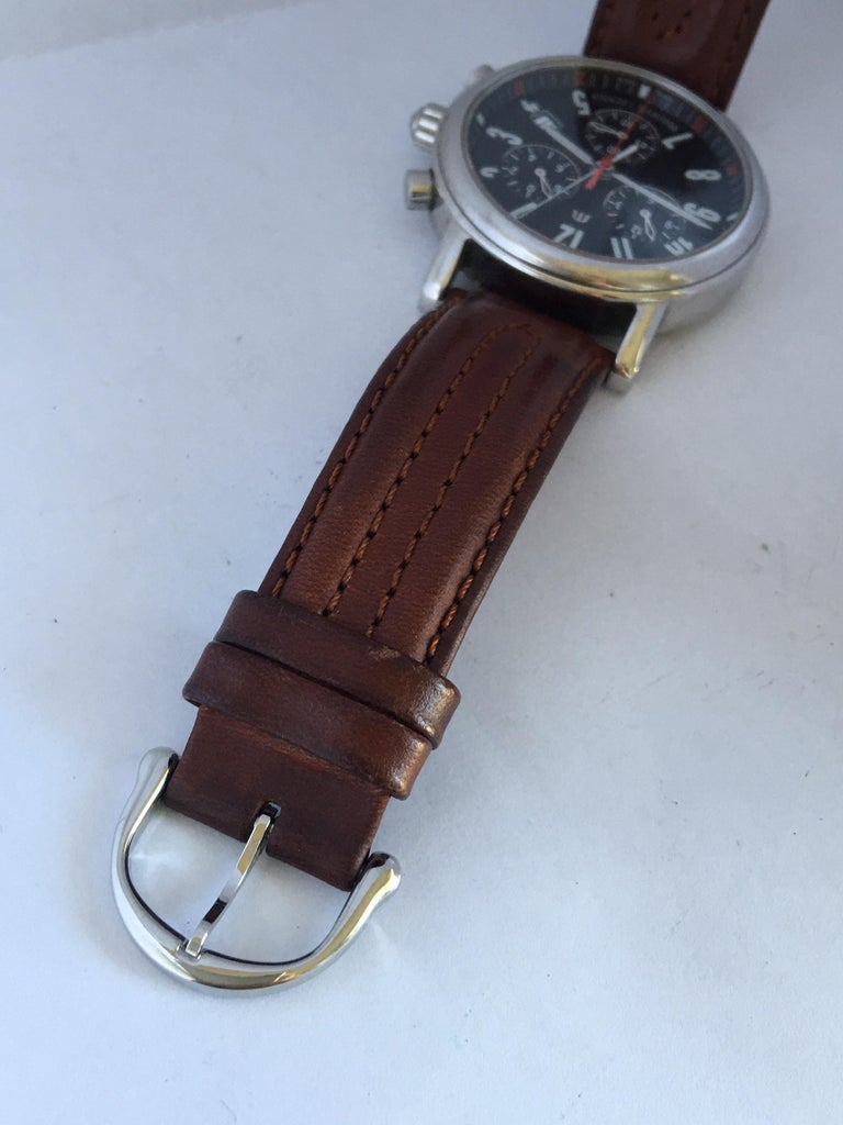 Classic Stainless Steel Maurice Lacroix LC1038 Chronograph Watch For Sale 7