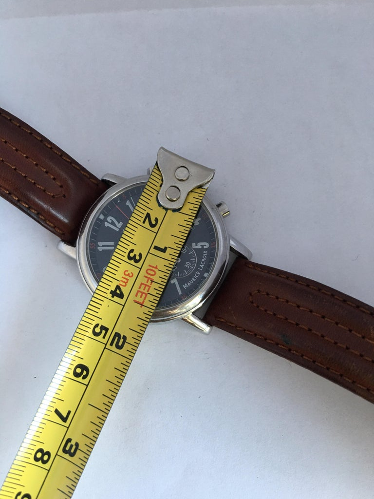 Classic Stainless Steel Maurice Lacroix LC1038 Chronograph Watch For Sale 10