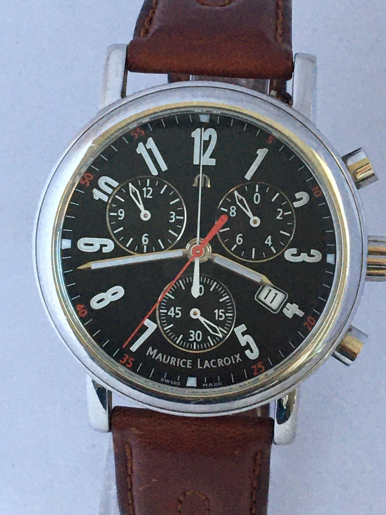 This charming pre-owned Quartz(Battery operated) Chronograph Watch is in good working condition and it is running well.   This watch is a pre-owned but well look after condition. Please study the images carefully as form part of the description.
