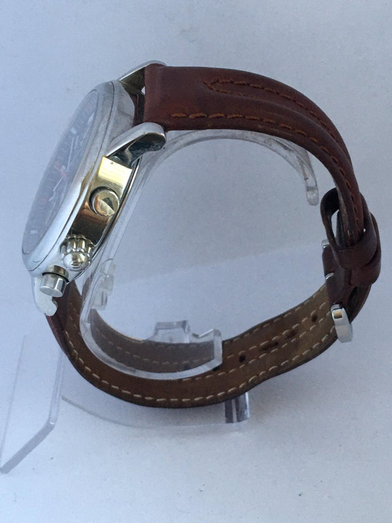 Classic Stainless Steel Maurice Lacroix LC1038 Chronograph Watch For Sale 4