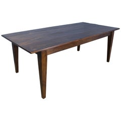 Classic Pine Farm Table, Stained Walnut