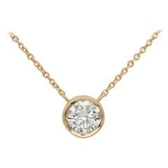 Classic .70 Carat G VVS Diamond Pendant Plus Chain Necklace