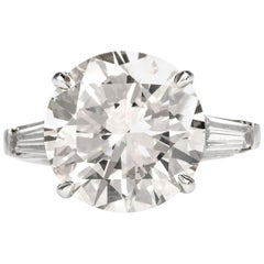 Classic 8.32 Carat Diamond Platinum Engagement Ring