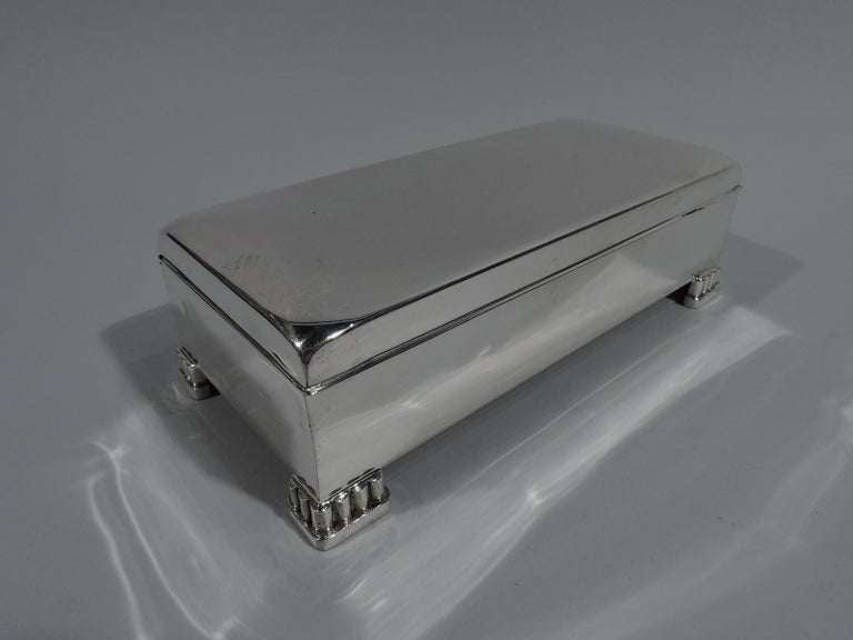 20th Century Classic American Mid-Century Modern Sterling Silver Box by Poole For Sale