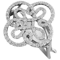 Classic and Elegant White Diamond White Gold Bridal Ring for Her