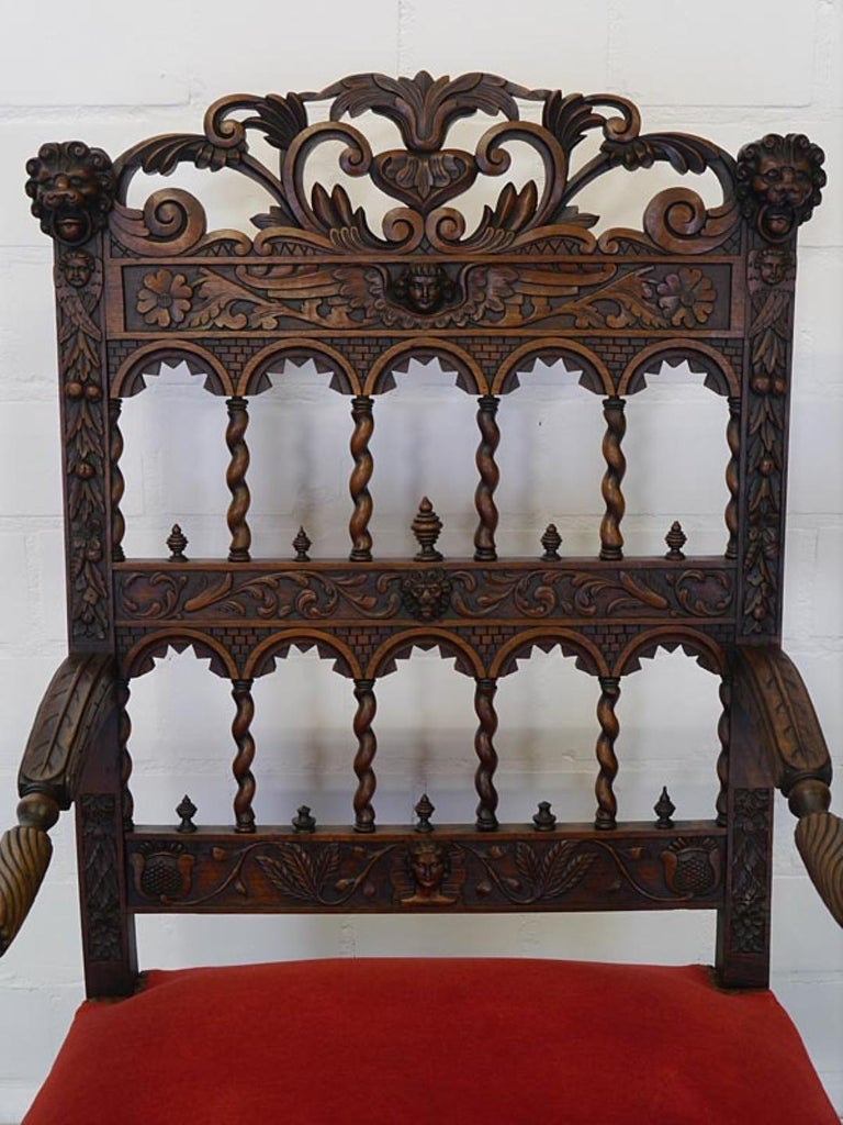 German Classic Antique Armchair from the Neo-Renaissance, circa 1880 For Sale