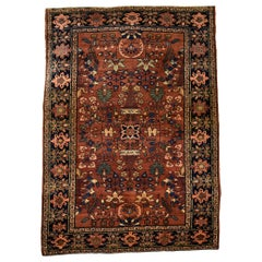 Classic Antique Persian Farahan Carpet Wool