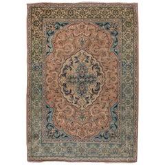 Classic Antique Persian Tabriz Rug, Amazing Colors