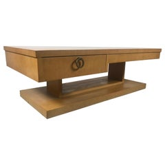 Classic Architectural Mid-Century Modern Coffee/Cocktail with Drawer by Lane