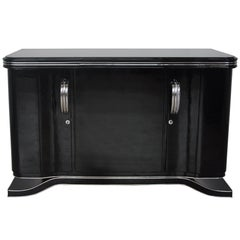 Classic Art Deco Sideboard with Chrome Fittings