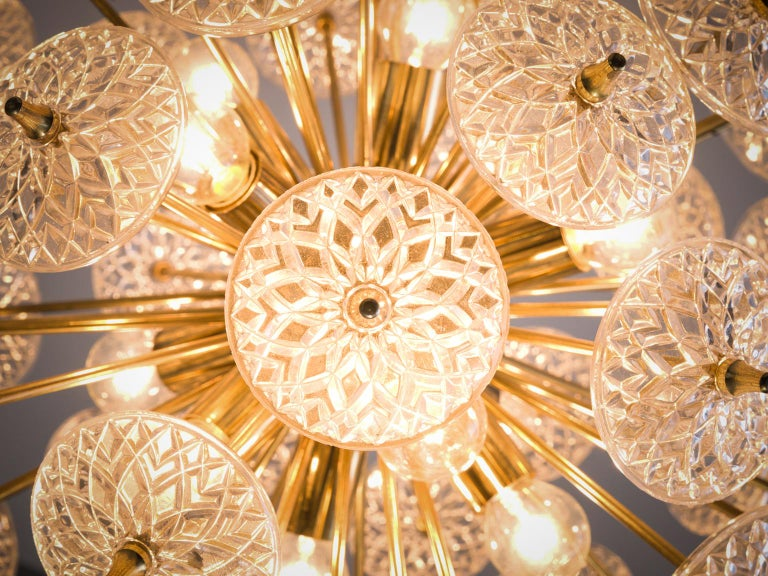 Brass Classic Austrian Roset Sputnik For Sale